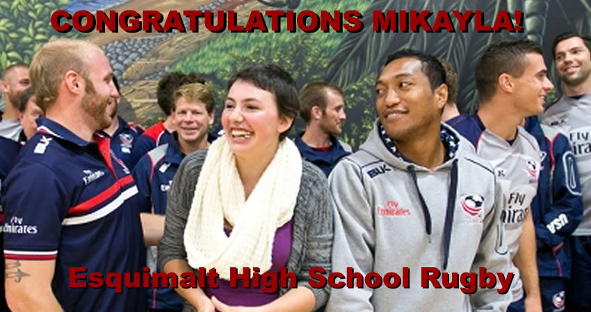 Mikayla US Rugby team
